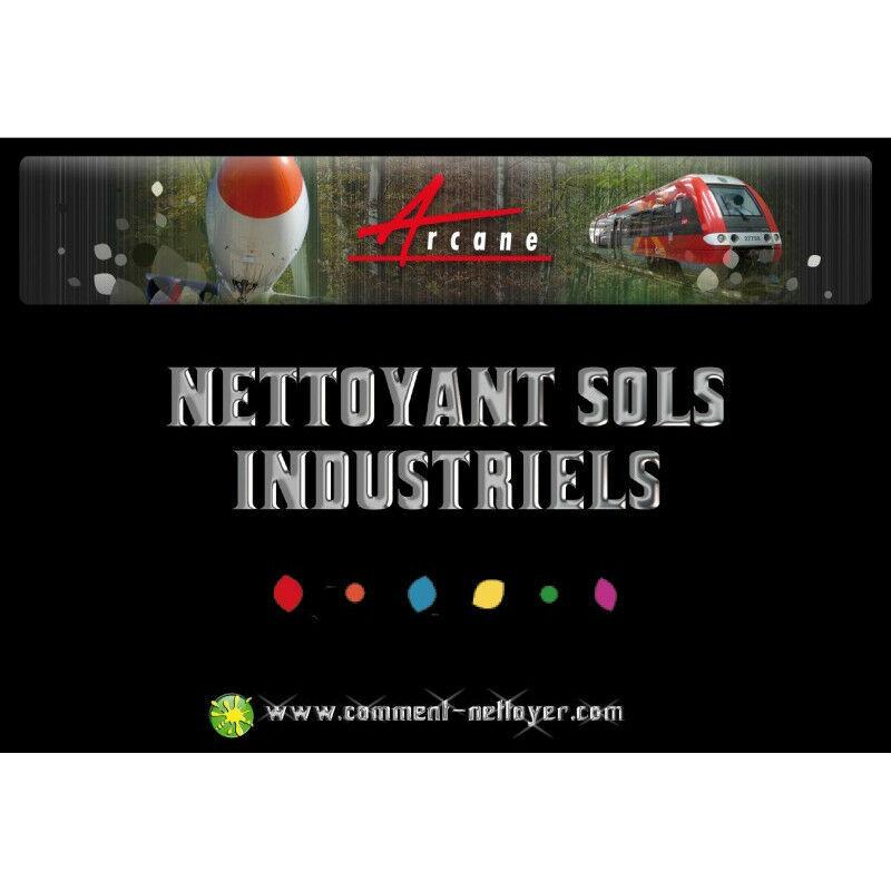 ARCANE INDUSTRIES Nettoyant sol industriel sale garage atelier Auto laveuse graisses huiles Nettoyant Rénovateur - ARCANE INDUSTRIES - Transparente - Liquide - 20 L