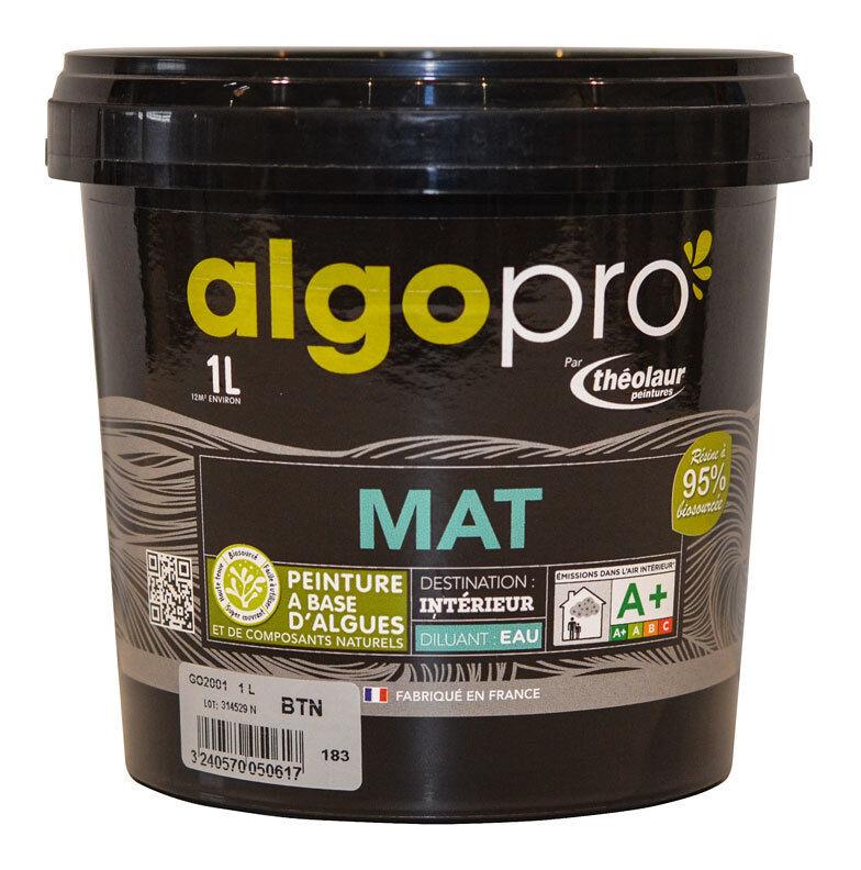 ALGO Peinture naturelle bio-sourcée à base d'huile végétale et d'algues pour murs et plafonds : Algo Pro mat - 2012 rose indien - 1L