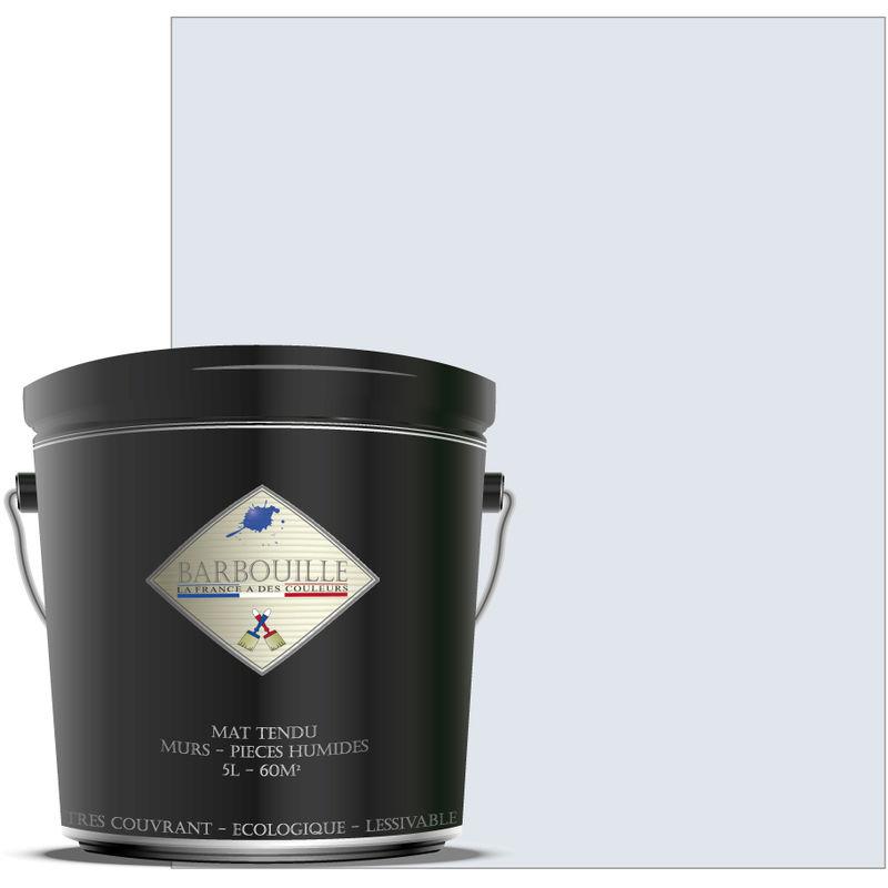 Barbouille - Peinture lessivable acrylique mat – murs et plafonds - 5 ltr Blanc - Innocent