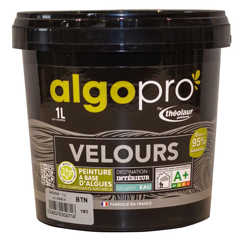 ALGO Peinture naturelle bio-sourcée à base d'huile végétale et d'algues idéale pour les murs : Algo Pro velours - 1959 lait d'amande - 1L