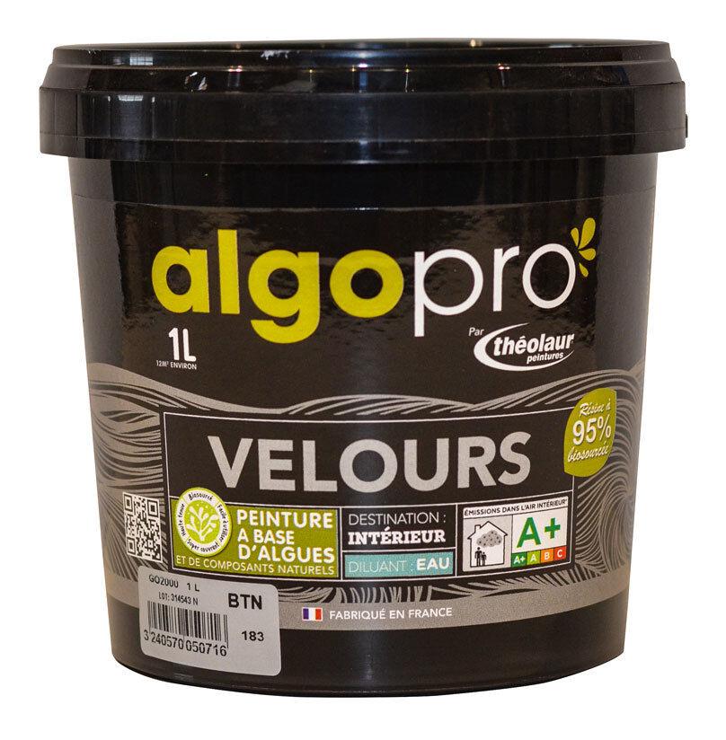 ALGO Peinture naturelle bio-sourcée à base d'huile végétale et d'algues idéale pour les murs : Algo Pro velours - 2012 rose indien - 1L