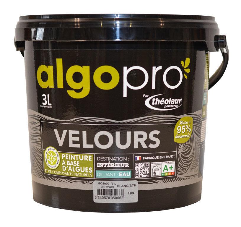 ALGO Peinture naturelle bio-sourcée à base d'huile végétale et d'algues idéale pour les murs : Algo Pro velours - 2012 rose indien - 3L