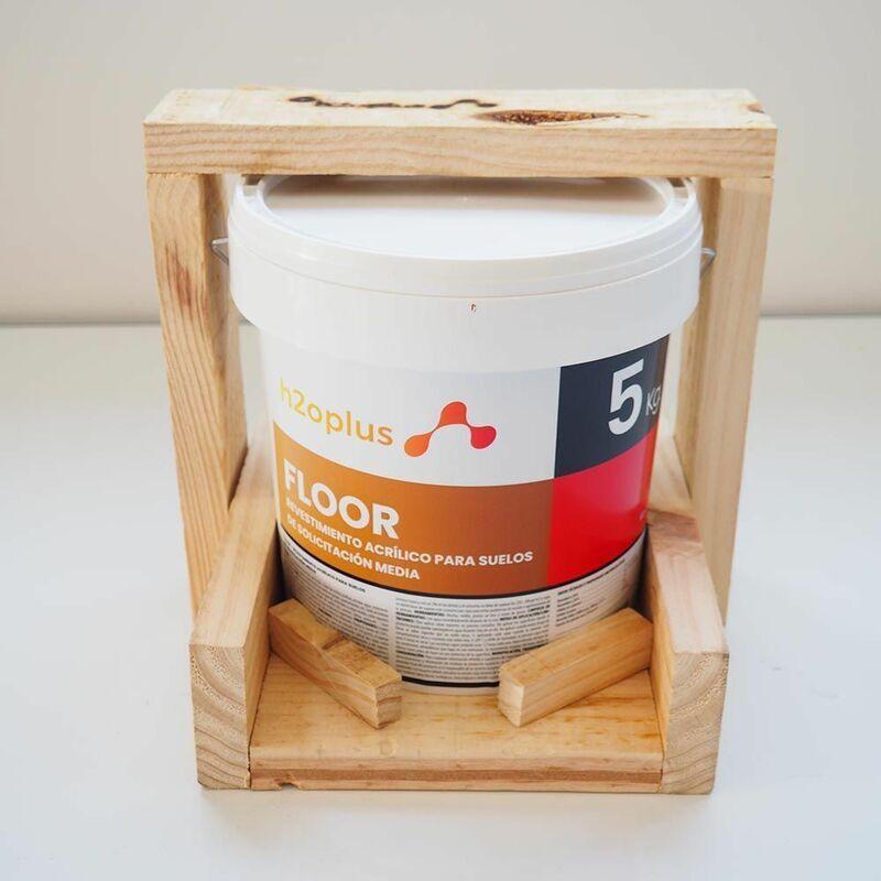 H2O.PLUS Peinture Sol Exterieur et Intérieur • FLOOR Rouge 5Kg • Produit 100% NATUREL à base d'eau, SA