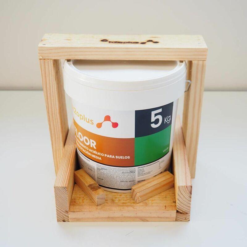H2O.PLUS Peinture Sol Exterieur et Intérieur • FLOOR Vert 5Kg • Produit 100% NATUREL à base d'eau, SAN