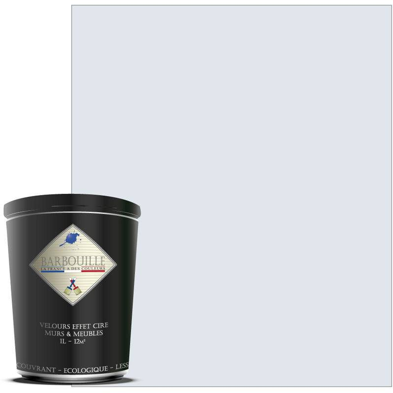 Barbouille - Peinture lessivable acrylique velours – murs et plafonds - 1 ltr Blanc - Innocent