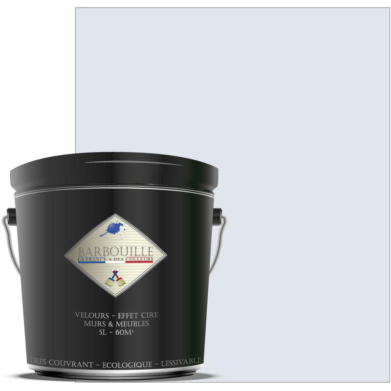 Barbouille - Peinture lessivable acrylique velours – murs et plafonds - 5 ltr Blanc - Innocent