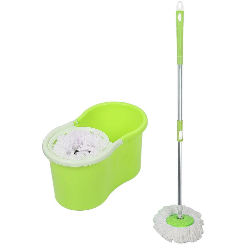 SKECTEN ® Balai serpillière microfibre avec seau essoreur vert - Skecten