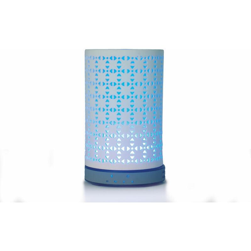 Purline - Diffuseur D'huiles Essentielles 200ML Humidificateur d'air Ultrasonique Aromathérapie avec Lumière Couleurs LED - Bleu