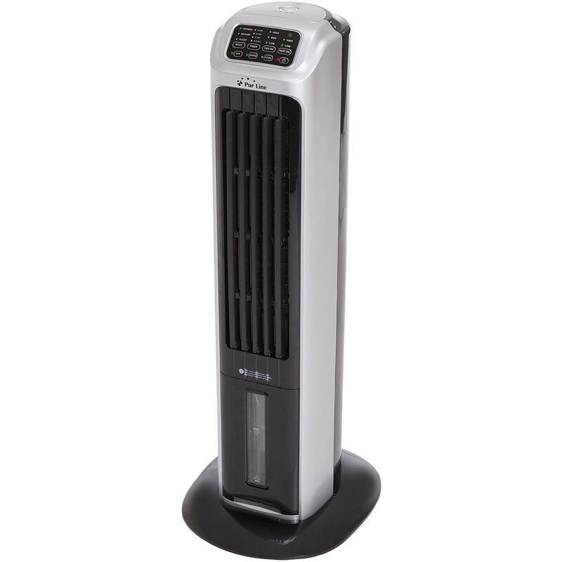 PURLINE Rafraîchisseur d air au format tour de ventilation avec chauffage et ioniseur efficace et élégante - Gris