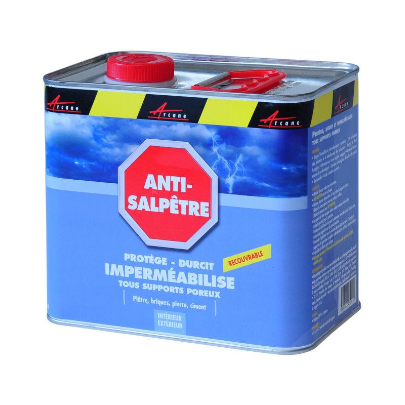 ARCANE INDUSTRIES Traitement du salpêtre Antisalpêtre Murs humides hydrofuge anti moisissure ANTISALPÊTRE - ARCANE INDUSTRIES - Liquide- Transparent - 2.5L (jusqu a