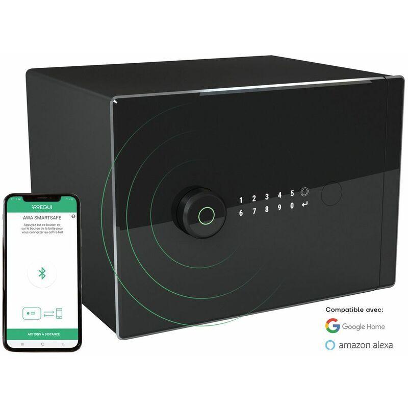 Arregui AWA Exclusive Edition Coffre-fort Intelligent, Smart Safe, ouverture à code électronique, gestion via l'application mobile, compatible Amazon