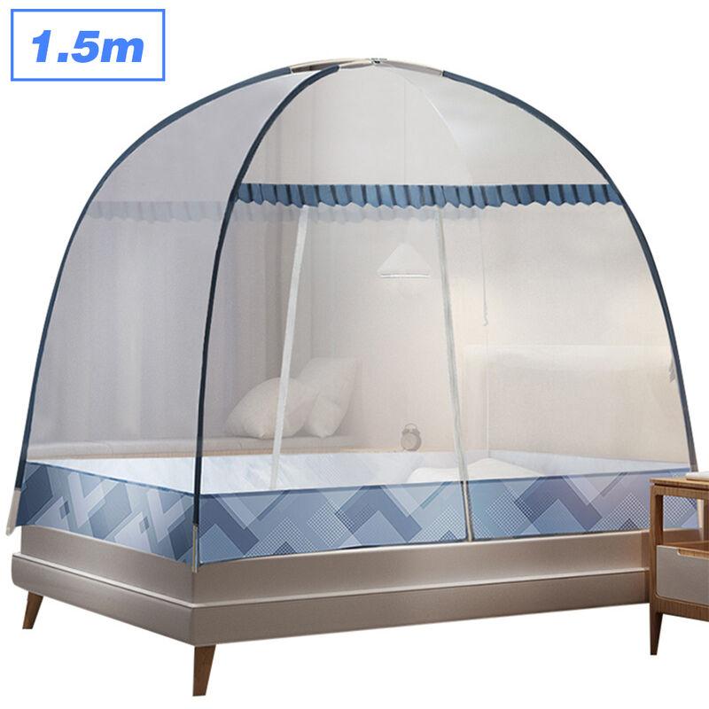 Happyshopping - Aucune installation de couverture de moustiquaire Moustiquaire pliable domestique La couleur de la moustiquaire de yourte est