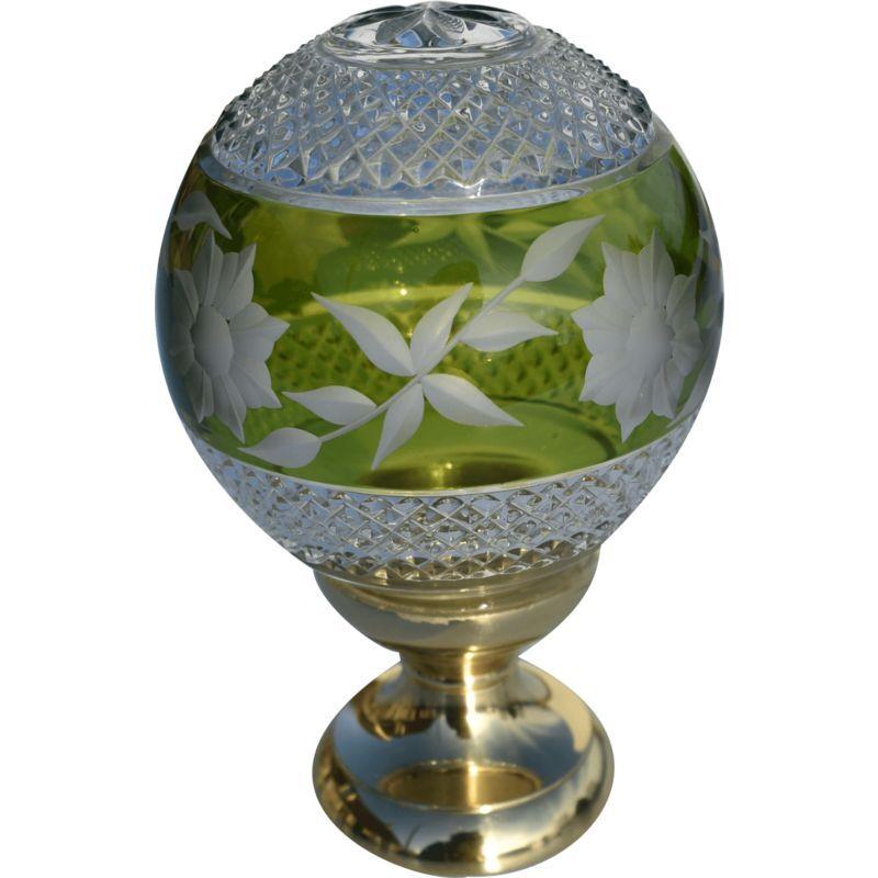 QUINCADECO Boule de rampe cristal vert Amazone