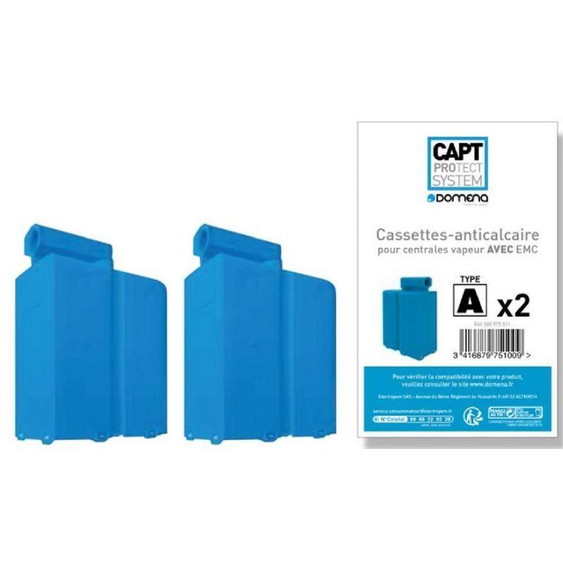 Domena Cassettes 2 Anti Calcaire Pour Centrale Vapeur Domena