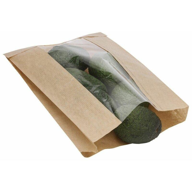 KKE Sac primeur kraft à fenêtre 2 - COLIS 1000 SACS
