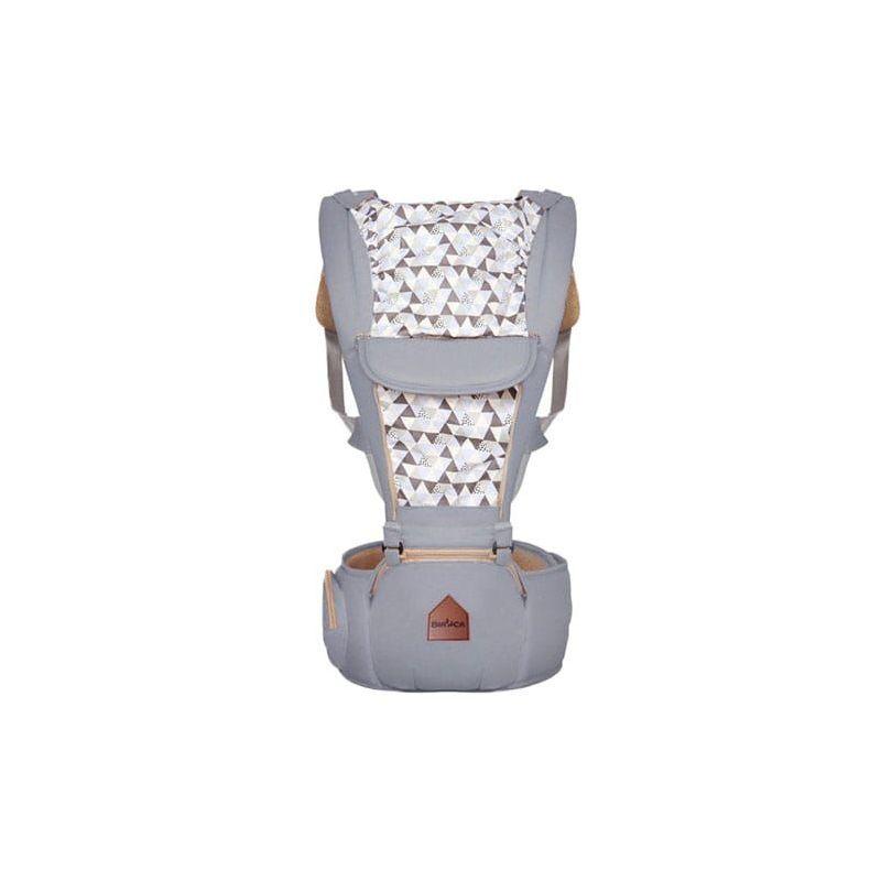 HUCOCO CUDDLE - Porte-bébé ergonomique ventral/dorsal avec capuche + ceinture avec poche - De 4 mois à 3 ans - Ajustable et Respirant - Gris