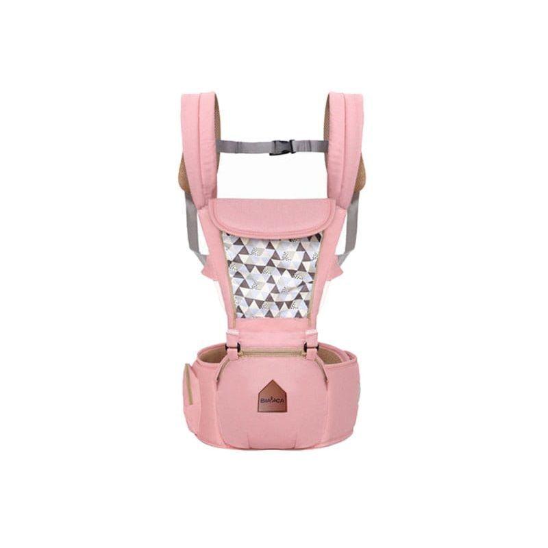 HUCOCO CUDDLE - Porte-bébé ergonomique ventral/dorsal avec capuche + ceinture avec poche - De 4 mois à 3 ans - Ajustable Respirant - Rose