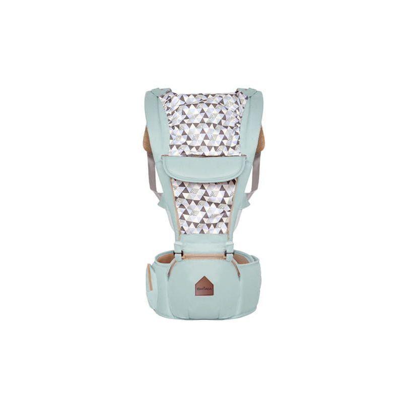 HUCOCO CUDDLE - Porte-bébé ergonomique ventral/dorsal avec capuche + ceinture large - De 4 mois à 3 ans - Ajustable Respirant Physiologique - Menthe