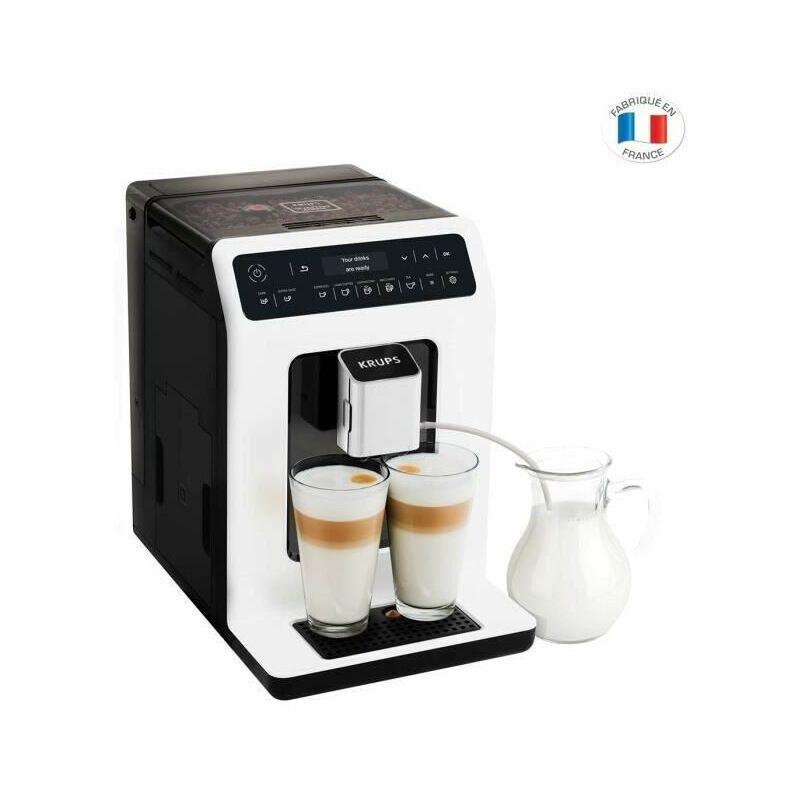 KRUPS EA890110 Evidence Machine a café a grain, Broyeur grain, Cafetiere Expresso Cappuccino Espresso, 2 tasses, Fabriqué en France