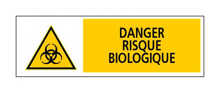 Novap - Panneau Danger risque biologique - Rigide 450x150mm - 4030791