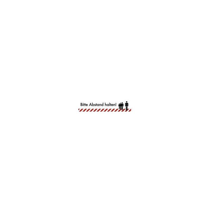 NO NAME Panneaux d'avis Veuillez garder vos distances! Film PVC noir blanc L900xW200 mm - Allemand