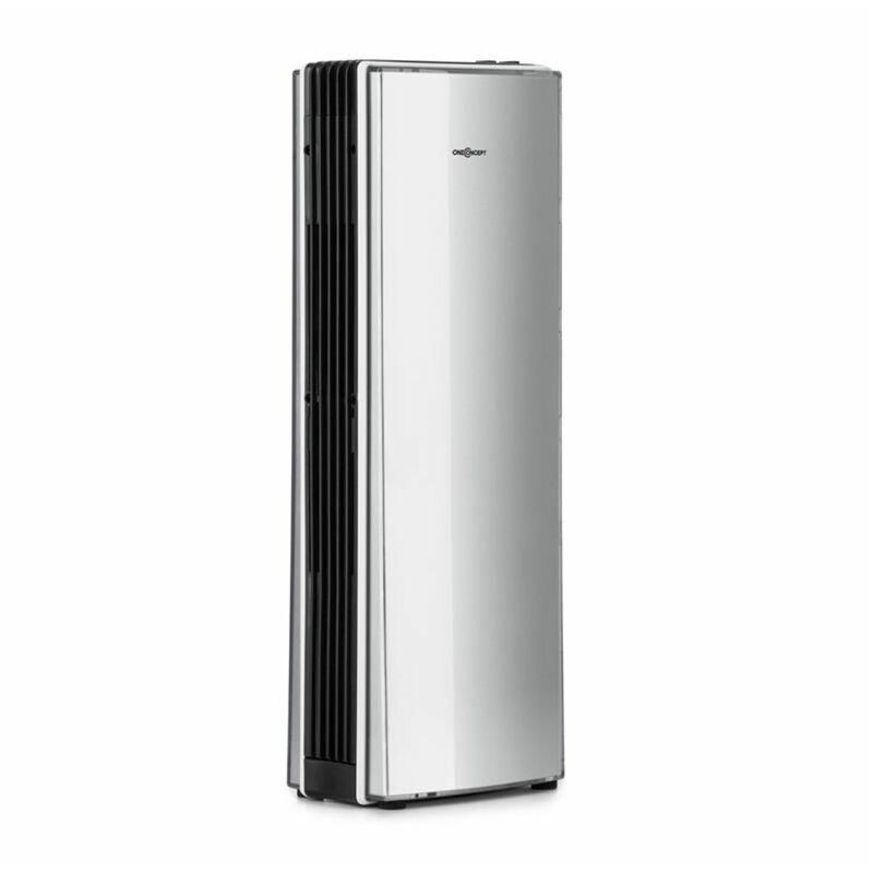 Oneconcept - St. Oberholz Office A Ioniseur ventilateur Purificateur d'air - argent   Capacité de débit : 7,25 m/h (4.25 CFM)   Dimension de pièce