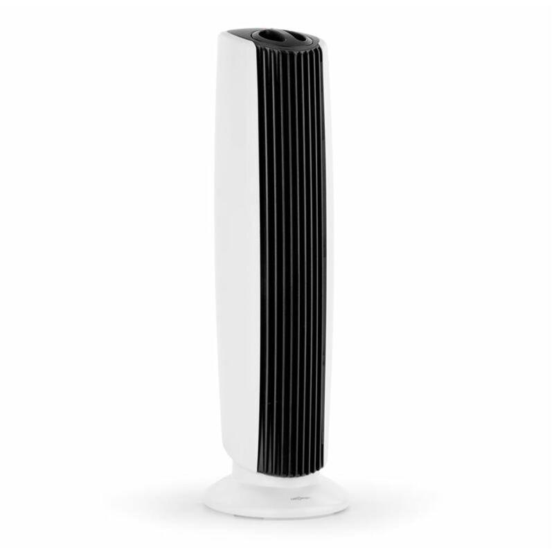 ONECONCEPT St. Oberholz XL Purificateur d'air ioniseur ventilateur noir & blanc   Capacité de débit : 7,25 m/h (4.25 CFM)   Dimension de pièce adaptée : jusqu'à