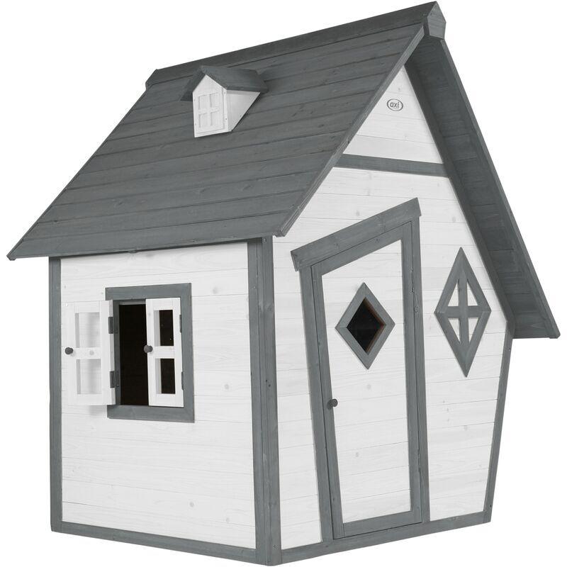 AXI Cabin Maison Enfant en Bois FSC   Maison de Jeux pour l'extérieur / Jardin en gris & blanc   Maisonnette / Cabane de Jeu 102 x 94 x 159 cm