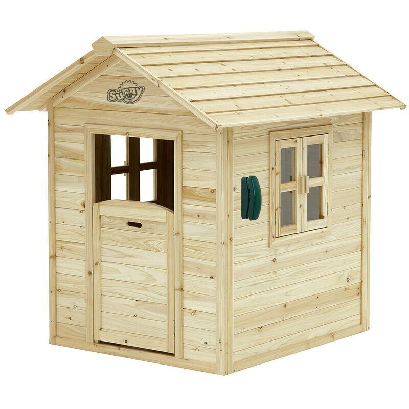 AXI Noa Maison Enfant en Bois FSC   Maison de Jeux pour l'extérieur / Jardin en marron & vert   Maisonnette / Cabane de Jeu avec des Fenêtres