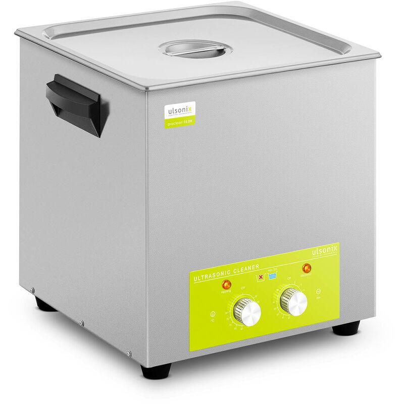 ULSONIX Nettoyeur à ultrasons Bain Ultrason Bac Sonicateur Cuve 15L Puissance Ultrason 360W Inox - Ulsonix