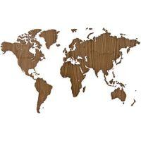 MiMi Innovations Décoration carte du monde murale Bois noyer 130x78 cm <br /><b>177.06 EUR</b> ManoMano