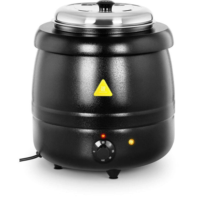 ROYAL CATERING Soupière Électrique Marmite Cuve Amovible Marmite Faitout Inox Noir 10 L 400 W