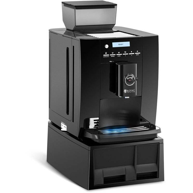 ROYAL CATERING Machine À Café Automatique Expresso Cappuccino Avec Mousseur Moulin 750g Grains