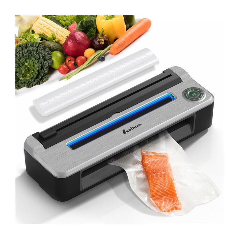 AIHOM Machine à Emballer sous Vide Appareil de Mise sous Vide Alimentaire pour Conservation des Aliments avec 10 Pcs Sacs sans BPA