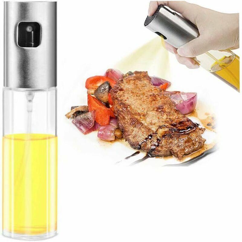 LANGRAY Oil Sprayer en Verre pour Huile, vinaigre, vinaigre, Bouteille de Cuisine, Outils, grattoir pour Cuisines, barbecues, pates, Salade, patisseries et