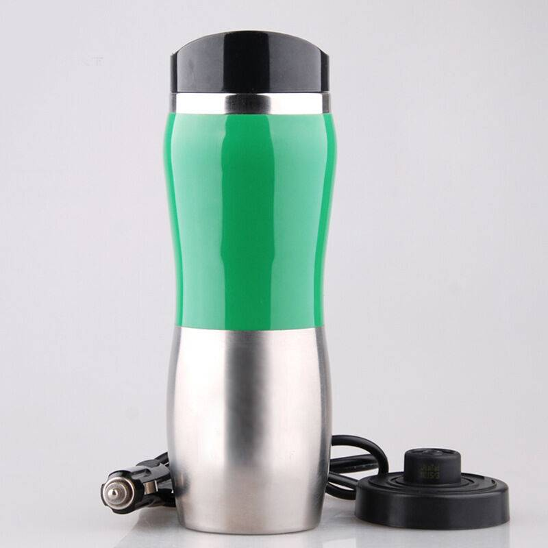 THSINDE Tasse Bouilloire électrique de Voiture Car Electric Mug 12V 400ML Portable Chargeur Voiture Cup Café en Acier Inoxydable Tasse chauffante Heating up
