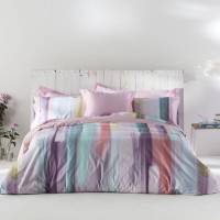 Naf Naf - Housse de couette LOANE rose/violet/vert 240x220 cm - rose/violet/vert <br /><b>62.99 EUR</b> ManoMano