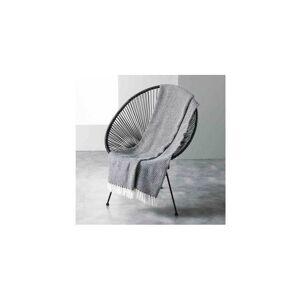 DOUCEUR D'INTÉRIEUR Plaid à franges en coton tissé - Pixel - 125 x 150 cm - Livraison gratuite - Publicité