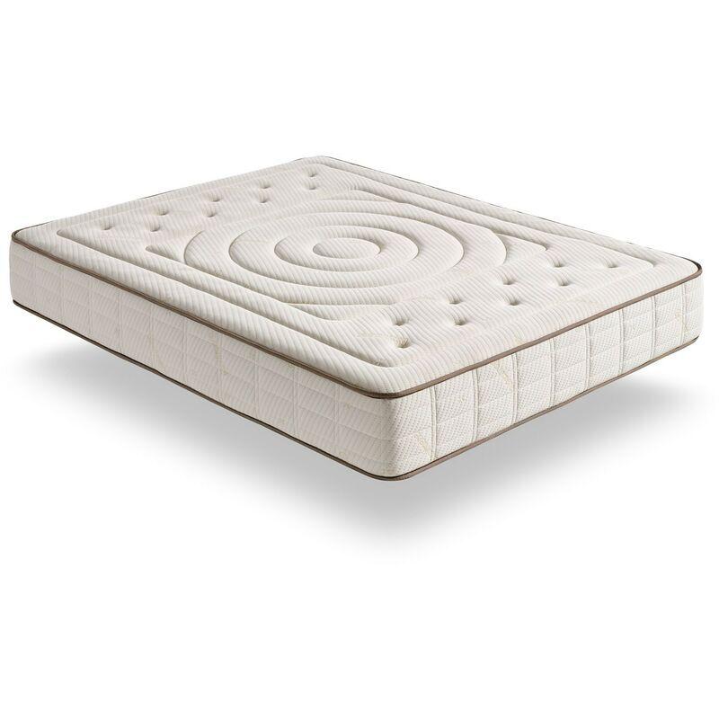 Matris - Matelas Viscoélastique Imperial Cashmere avec fibres écologiques naturelles 135x190 Hauteur 26cm +/- 2 Fermeté moyenne-élevée