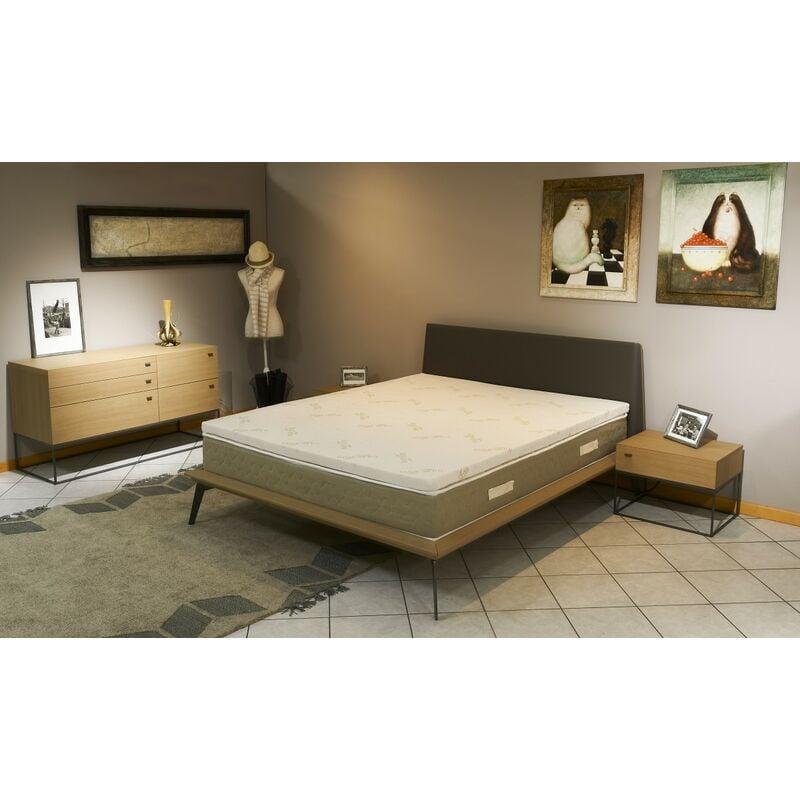 NUITS D'OR Surmatelas ergonomique Hyper Moelleux top Confort 160x200 x 5 cm Déhoussable Entretien Facile - Anallergique - à l'Aloe Vera