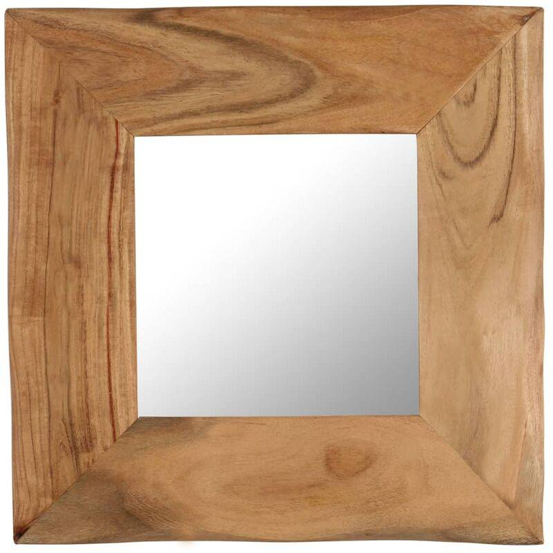 VIDAXL Miroir cosmétique 50x50 cm Bois solide d'acacia