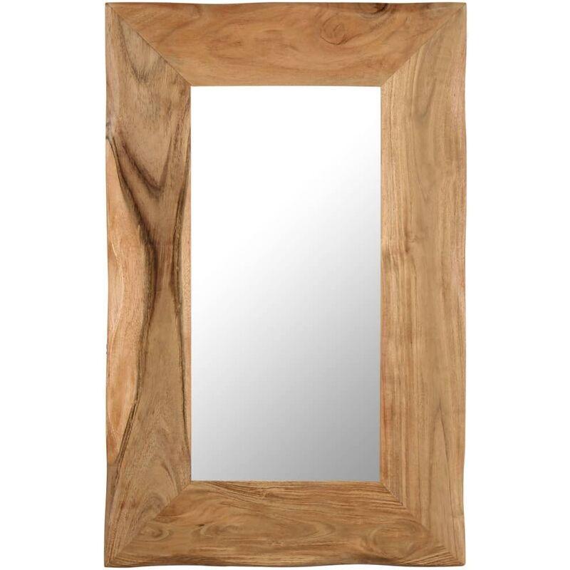 VIDAXL Miroir cosmétique 50x80 cm Bois solide d'acacia