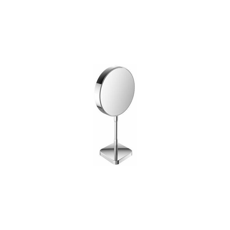 EMCO Miroir cosmétique et de rasage réfléchissant des deux côtés, grossissement 3x et 7x, rond, non éclairé, bras flexible, modèle autoportant - 109500116