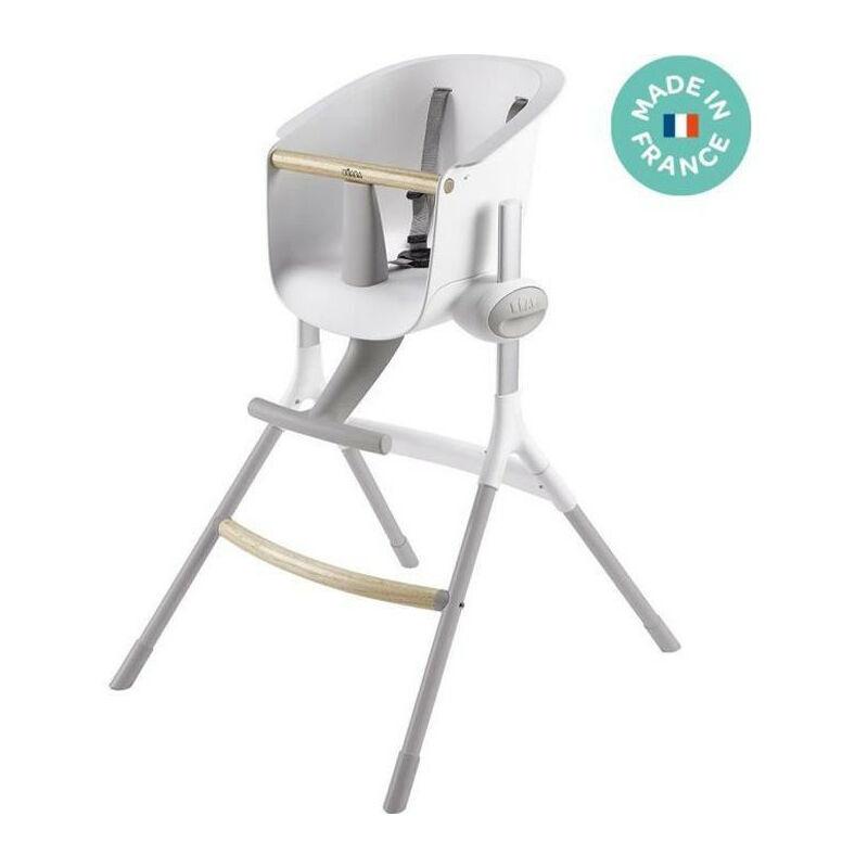 Beaba Chaise haute bebe Up+Down Gris/Blanc - Beaba
