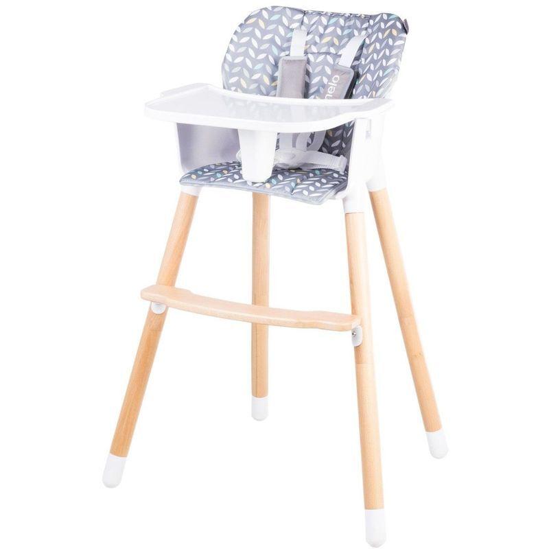 LIONELO KOEN Chaise haute en bois style scandinave et évolutive Jaune - Jaune