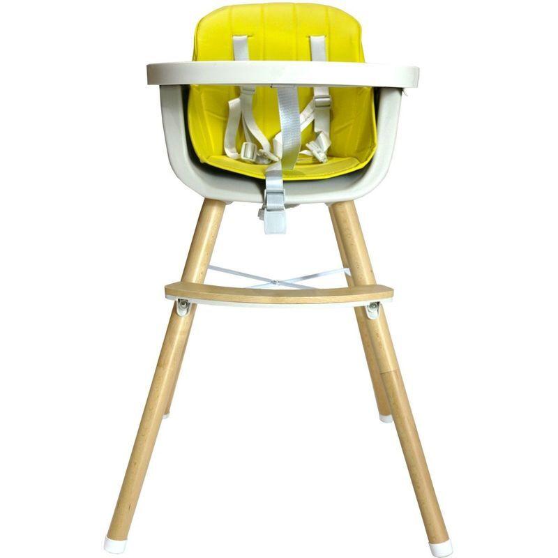 BB-BOOM NOOMI Chaise haute bébé scandinave 2 en 1 Jaune - Jaune