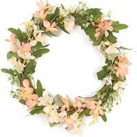ECHOO Couronne de marguerites artificielles printemps/été, 40 cm pour porte d'entrée, couronne de fleurs, guirlande de mariage, couronne de vigne, <br /><b>66.92 EUR</b> ManoMano