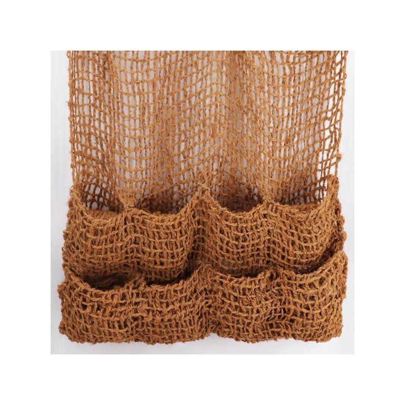 AQUAGART 1 sac à plantes, tissu en fibres de noix de coco, 8 sacs, natte pour bordures de bassin, filet anti-érosion pour liner de bassin