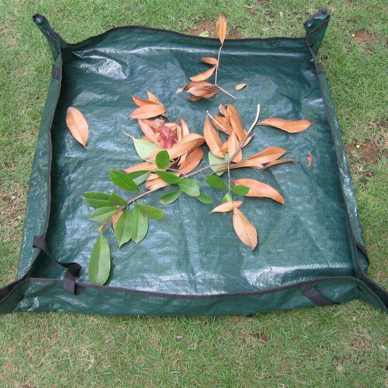 THSINDE 1pcs sac à déchets de jardin gallons, tissu PE épais et résistant de haute qualité, étanche à l'eau, 4 poignées réutilisables, bon pour le collecteur