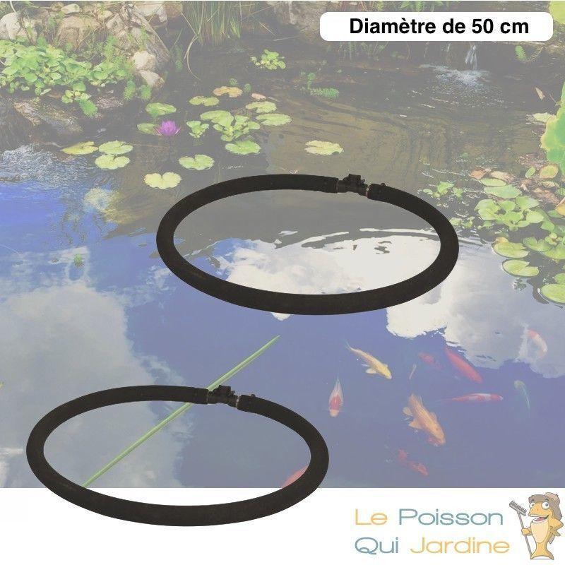 LEPOISSONQUIJARDINEFR 2 Diffuseurs D'Air Poreux 50 cm Pour Bassins De Jardin + Tuyau - Noir
